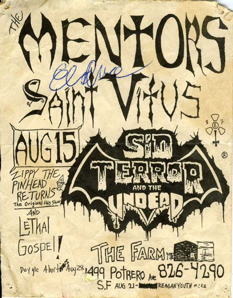 Mentors-Saint Vitus-The Undead @ @ San Francisco CA 8-15-87