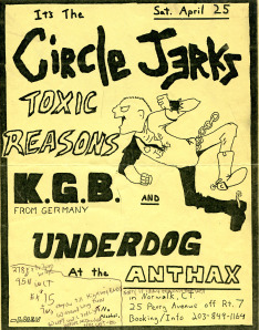 Circle Jerks-Toxic Reasons-KGB-Underdog @ Norwalk CT 4-25-87