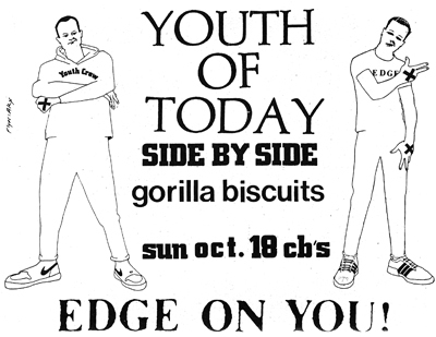 Youth Of Today-Side By Side-Gorilla Biscuits @ New York City NY 10-18-87