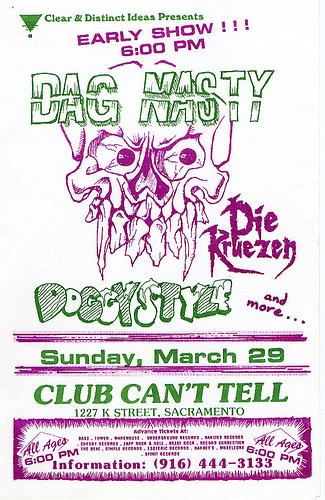 Dag Nasty-Doggy Style-Die Kreuzen @ Sacramento CA 3-29-87