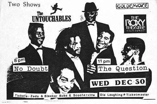 Untouchables-No Doubt-The Question @ Los Angeles CA 12-30-87