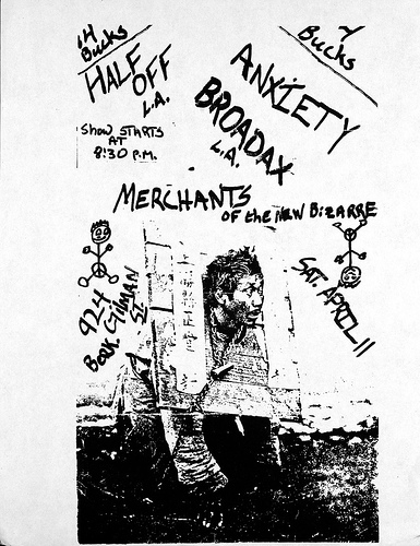 Half Off-Anxiety-Broadax-Merchants Of The New Bizarre @ Berkeley CA 4-11-87