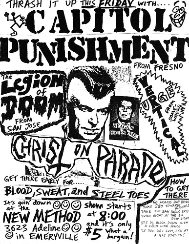 Capital Punishment-Legion Of Doom-Vertical Urge-Christ On Parade @ Emeryville CA