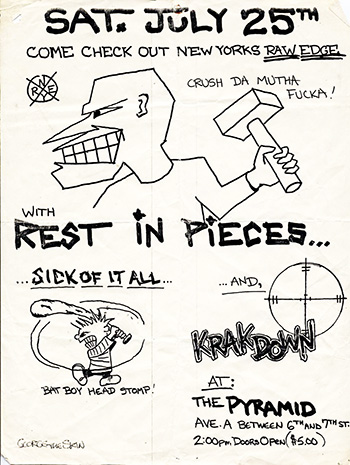 Rest In Pieces-Sick Of It All-Krakdown @ New York City NY 7-25-87