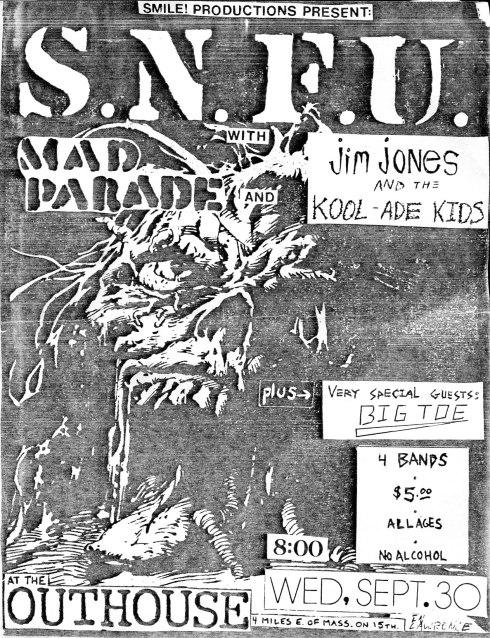 SNFU-Mad Parade-Jim Jones & The Kool Ade Kids @ Lawrence KS 9-30-87