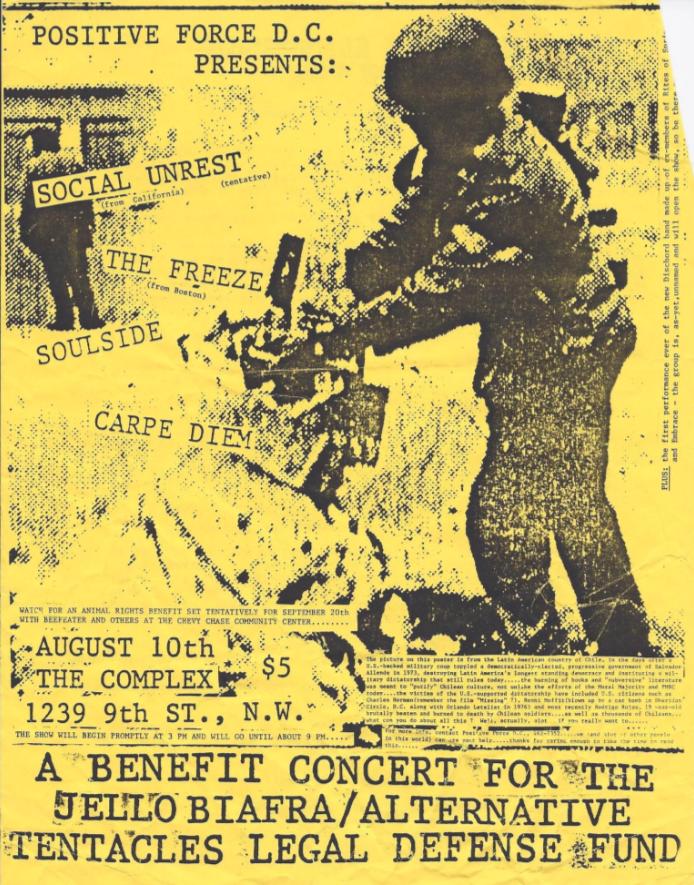 Social Unrest-The Freeze-Soul Side-Carpe Diem @ Washington DC 8-10-87