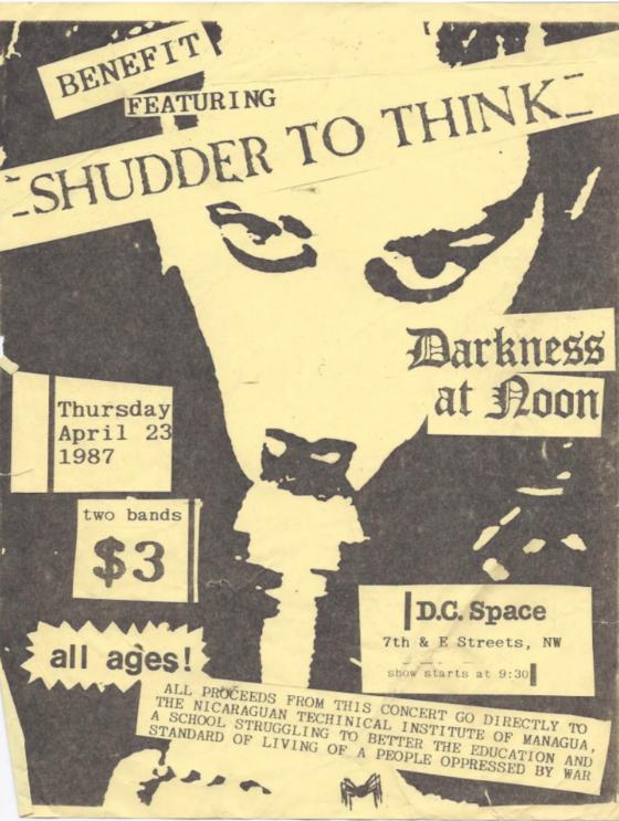 Shudder To Think-Darkness At Noon @ Washington DC 4-23-87
