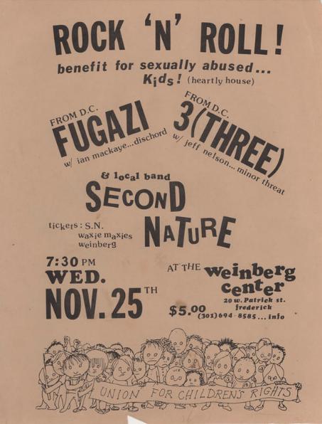 Fugazi-Three-Second Nature @ Frederick MD 11-25-87