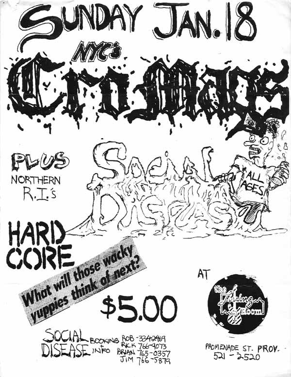 Cro Mags-Social Disease @ Providence RI 1-18-87