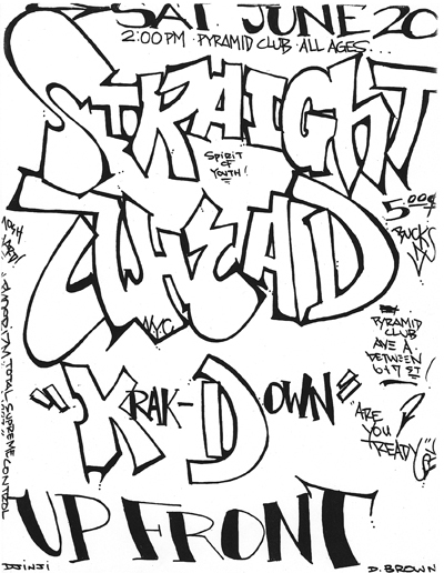 Straight Ahead-Krakdown-Up Front @ New York City NY 6-20-87