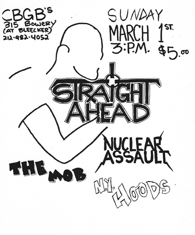 Straight Ahead-Nuclear Assault-The Mob-NY Hoods @ New York City NY 3-1-87