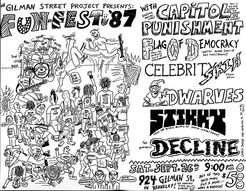 Capital Punishment-Flag Of Democracy-Celebrity Skin-Dwarves-Stikky-Decline @ Berkeley CA 9-26-87