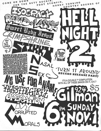 Hell Night 2 @ Gilman St. 11-1-87