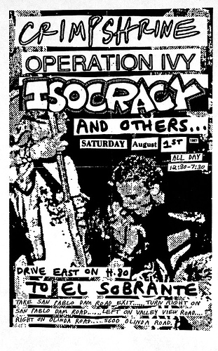 Crimpshrine-Operation Ivy-Isocracy @ El Sobrante CA 8-1-87