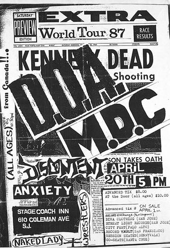 DOA-MDC-Discontent-Anxiety @ San Jose CA 4-20-87
