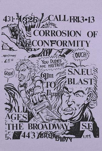 Corrosion Of Conformity-SNFU-Bl'ast! @ San Francisco CA 3-13-87