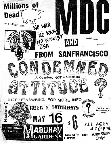 MDC-Condemned Attitude @ San Francisco CA 5-16-87