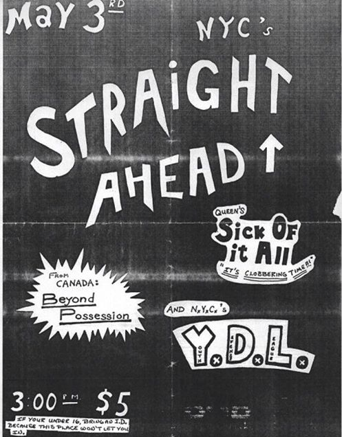 Straight Ahead-Sick Of It All-Beyond Possession-YDL @ New York City NY 5-3-87