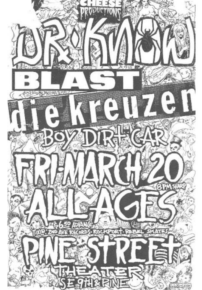 Dr. Know-Bl'ast!-Die Kreuzen-Boy Dirt Car @ Portland OR 3-20-87
