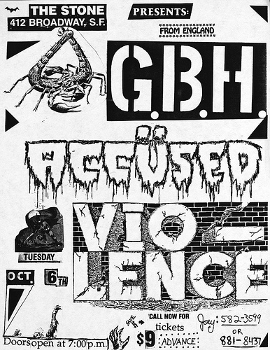 GBH-The Accused-Vio Lence @ San Francisco CA 10-6-87