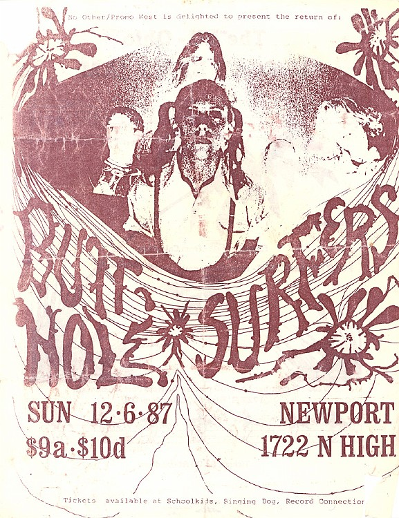 Butthole Surfers @ Columbus OH 12-6-87