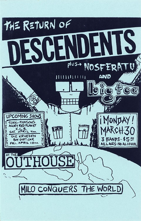 Descendents-Nosferatu-Big Tree @ Lawrence KS 3-30-87