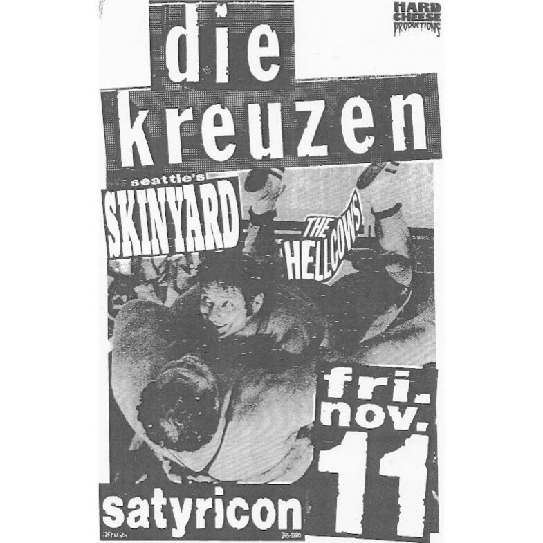 Die Kreuzen-Skinyard-The Hell Cows @ Portland OR 11-11-87