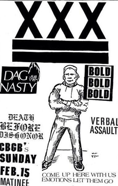 Dag Nasty-Bold-Verbal Assault-Death Before Dishonor @ New York City NY 2-15-87