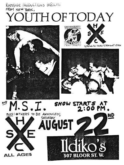 Youth Of Today-More Stupid Initials @ Buffalo NY 8-22-87