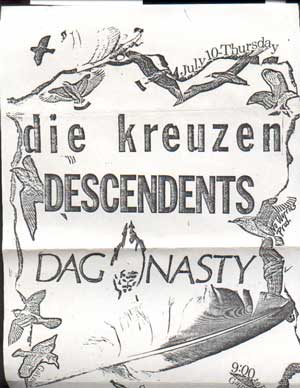 Die Kreuzen-Descendents-Dag Nasty 7-10-86