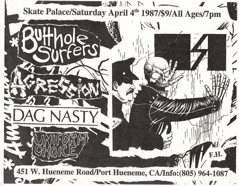 Butthole Surfers-Aggression-Dag Nasty-Uniform Choice @ Port Hueneme CA 4-4-87