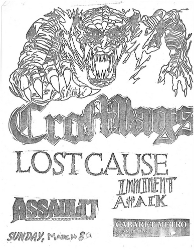 Cro Mags-Lost Cause-Imminent Attack-Assault @ Chicago IL 3-8-87
