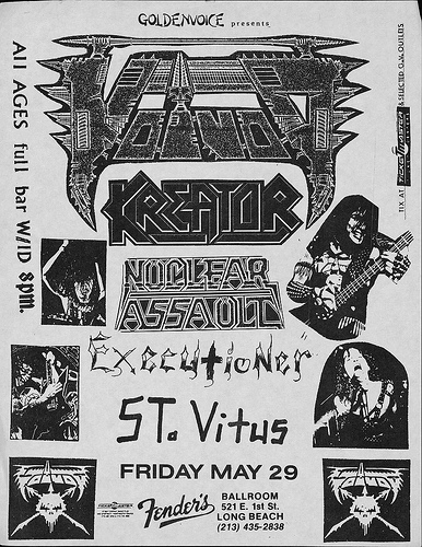 Kreator-Nuclear Assault-Executioner-Saint Vitus @ Long Beach CA 5-29-87