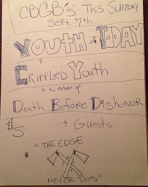 Youth Of Today-Crippled Youth-Death Before Dishonor @ New York City NY 9-7-87