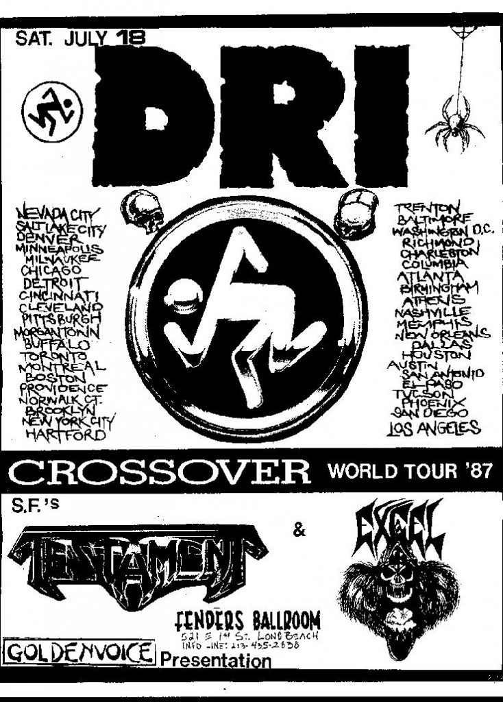 DRI-Testament-Excel @ Long Beach CA 7-18-87