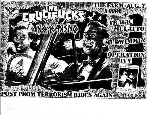 Crucifucks-No Means No-Tragic Mulatto-Mudwimmin-Operation Ivy @ San Francisco CA 8-7-87