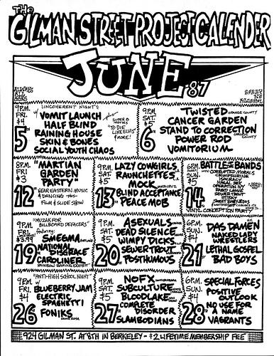 Gilman St. June 1987