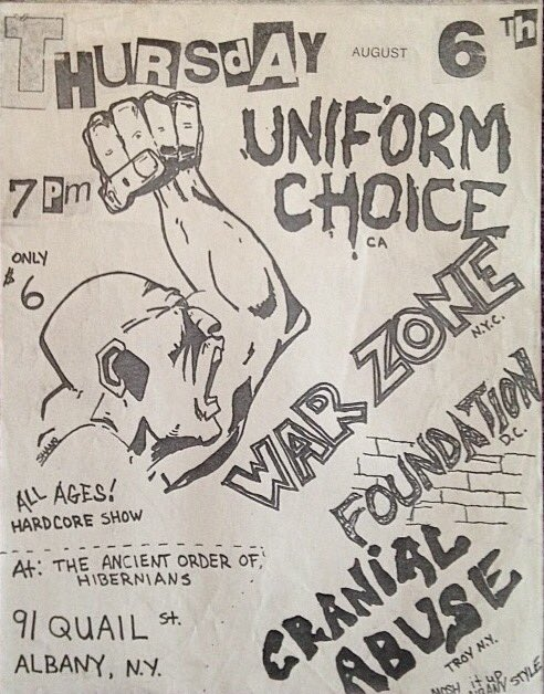 Uniform Choice-War Zone-Foundation-Cranial Abuse @ Albany NY 8-6-87