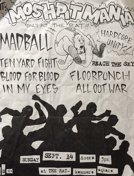 Madball-Ten Yard Fight-Blood For Blood-In My Eyes-Floorpunch-All Out War-Reach The Sky @ Boston MA 9-14-97