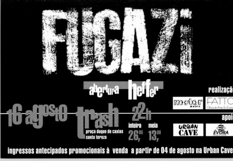 Fugazi-Abertura-Heffer @ Santa Tereza Costa Rico 8-16-97