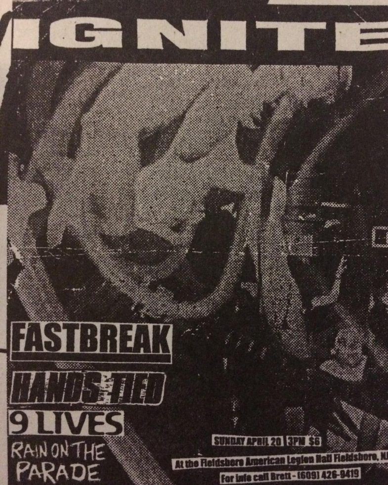 Ignite-Fastbreak-Hands Tied-Rain On The Parade-9 Lives @ Fieldsboro NJ 4-20-97