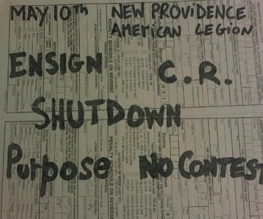Ensign-CR-Shutdown-The Purpose-No Contest @ New Providence NJ 5-10-97