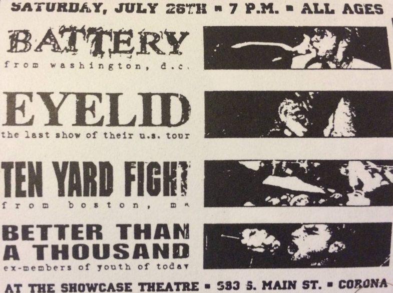 Battery-Eyelid-Ten Yard Fight-Better Than A Thousand @ Corona CA 7-26-97
