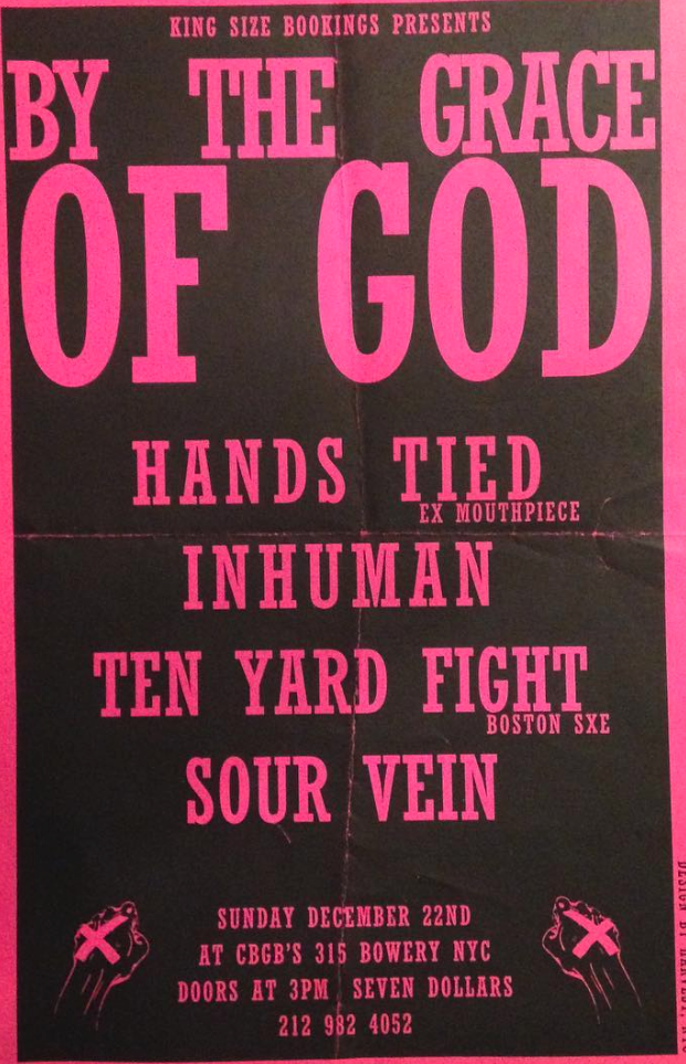 By The Grace Of God-Hands Tied-Inhuman-Ten Yard Fight-Sour Vein @ New York City NY 12-22-97