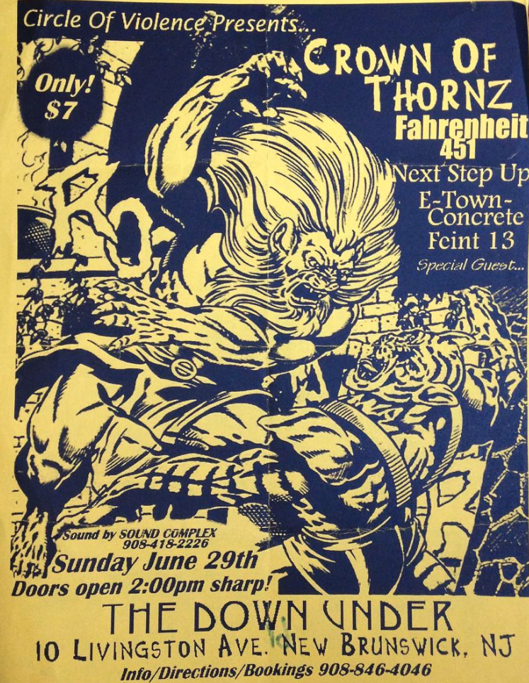 Crown Of Thornz-Fahrenheit 451-Next Step Up-E Town Concrete-Feint 13 @ New Brunswick NJ 6-29-97