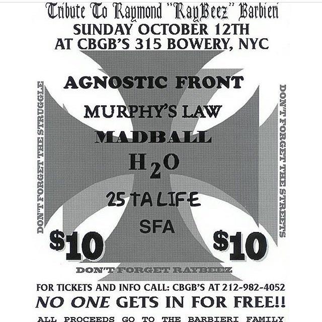 Agnostic Front-Murphy's Law-Madball-h2o-25 Ta Life-SFA @ New York City NY 10-12-97