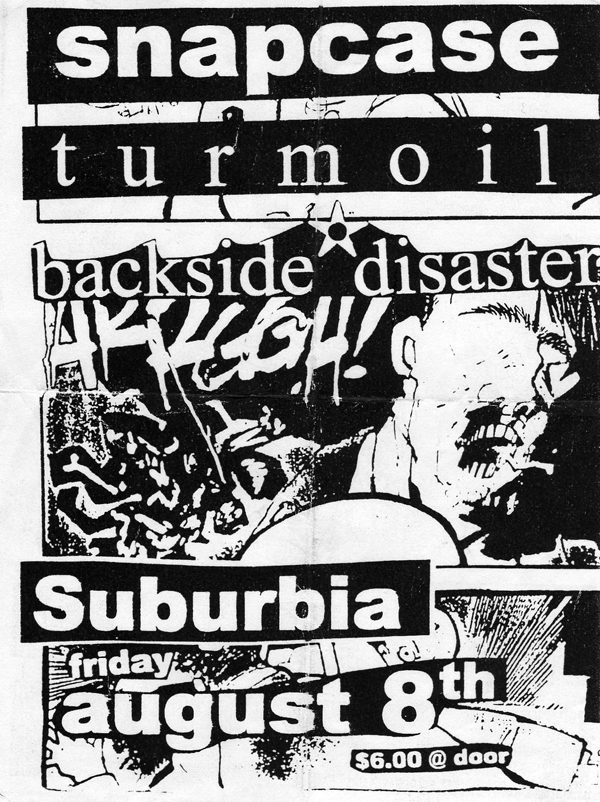 Snapcase-Turmoil-Backside Disaster @ Portland OR 8-8-97