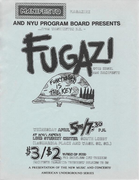 Fugazi-Edsel-Manifesto @ New York City NY 4-5-97