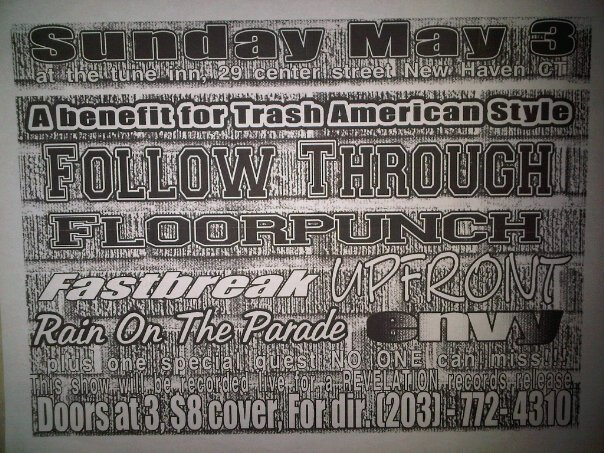 Follow Through-Floorpunch-Fastbreak-Up Front-Rain On The Parade-Envy @ New Haven CT 5-3-97