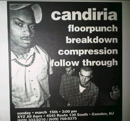 Candiria-Floorpunch-Breakdown-Compression-Follow Through @ Camden NJ 3-15-97
